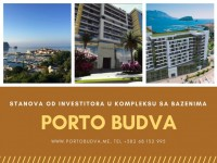 PORTO BUDVA – Prodaje stan C803-54.32m2 + 7.67m2 TERASA GRATIS