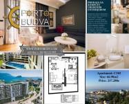 PORTO BUDVA Prodaje stan C102-54.32m2+12.66m2 TERSA GRATIS