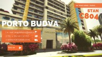 PORTO BUDVA – Prodaje stan C804 55.19m2 + 8.74m2 terasa GRATIS