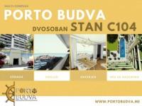 PORTO BUDVA – Prodaje stan C104- 67.48m2+45.40 m2 terasa GRATIS!